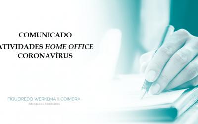 COMUNICADO – ATIVIDADES HOME OFFICE FW&C – CORONAVÍRUS