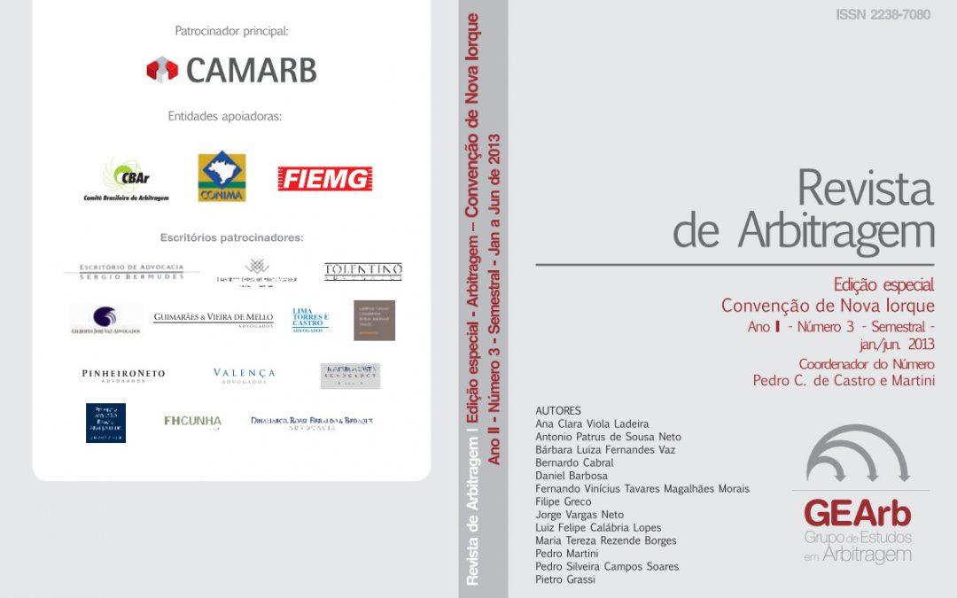 REVISTA DE ARBITRAGEM 2013 – Edição especial – Convenção de Nova Iorque