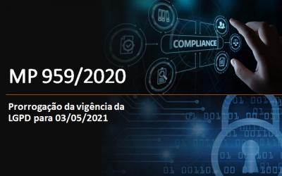 MP 959/20 PRORROGA LGPD PARA MAIO DE 2021